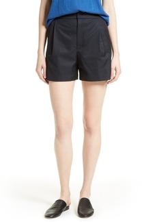 Vince High Waist Cotton Shorts