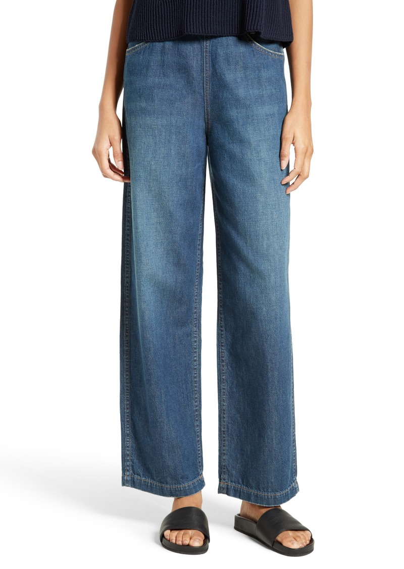 3ffbe9a0668ca SALE! Vince Vince High Waist Side Zip Wide Leg Ankle Jeans