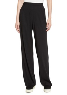 Vince High-Waist Single-Pleat Pants