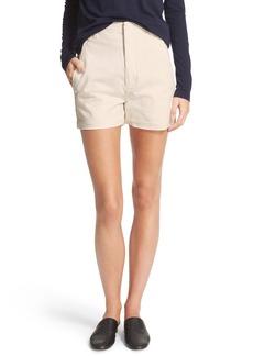 Vince High Waist Stretch Cotton Shorts