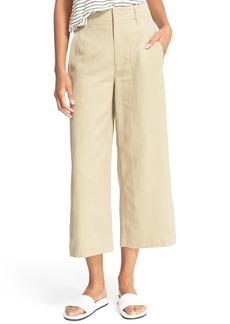 Vince High Waist Wide Leg Crop Pants