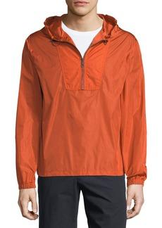Vince Hooded 1/4-Zip Anorak Jacket