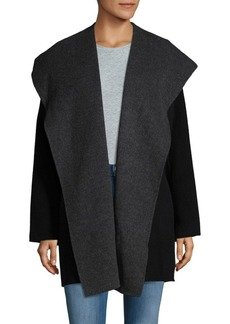 Vince Hooded Open Front Coat