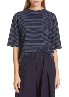 Vince Indigo Stripe Wide Sleeve Tee