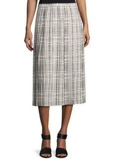 Vince Interlace-Print Pleated Skirt