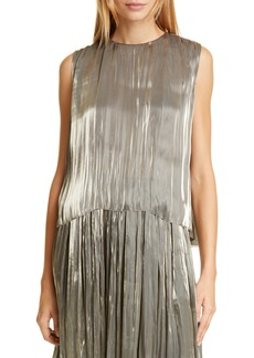 Vince Iridescent Pleated Tank Top