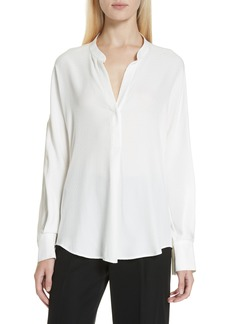 Vince Jacquard Dot Silk Blouse