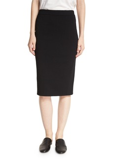 Vince Jersey Pencil Skirt  Black