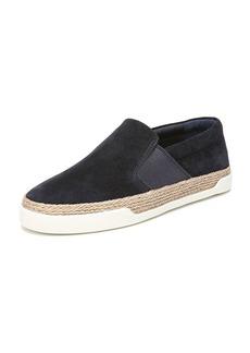 Vince Johan Suede Flat Sneaker