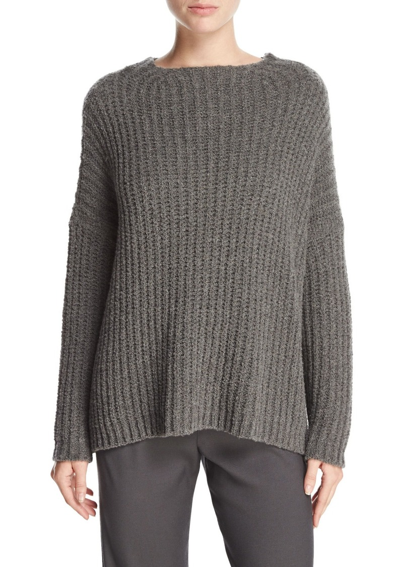 Vince Vince Ladder-Stitched Funnel-Neck Cashmere-Blend Sweater ...