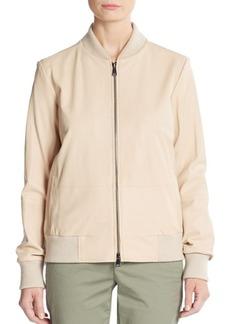 Vince Leather Bomber Jacket