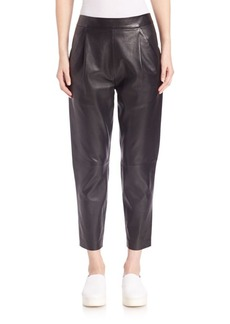 Vince Leather Cropped Pants