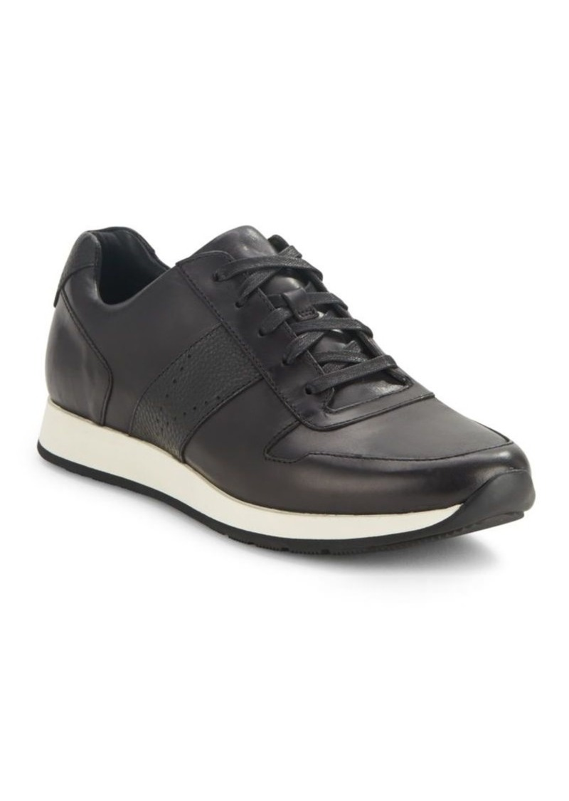 Vince Leather Lace-Up Sneakers