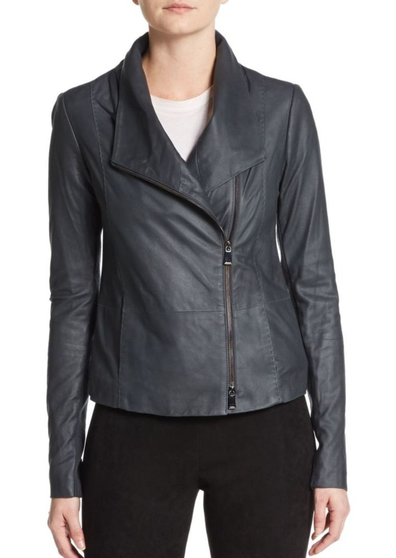 On Sale Today Vince Vince Leather Scuba Jacket