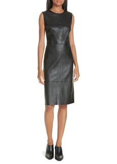 Vince Leather Sheath Dress