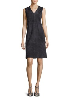 Vince Leather Shift Dress