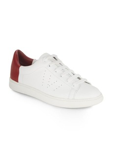 Vince Leather Slip-On Sneakers