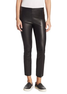 Vince Leather Split Hem Crop Pants