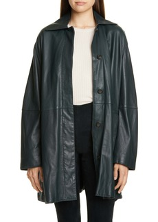Vince Leather Trench Coat