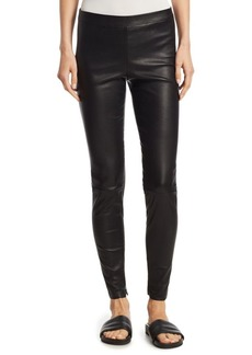Leather Zip Ankle Leggings