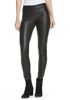 Vince Leather Zip Leggings