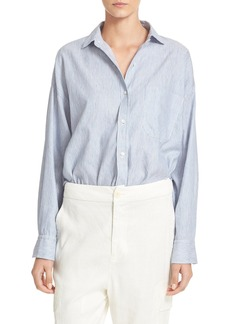 Vince Linen & Cotton Crop Shirt