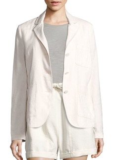 Vince Linen & Silk Blend Three-Button Blazer