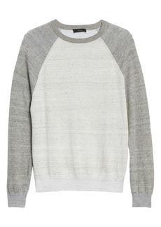Vince Linen Blend Baseball Sweater