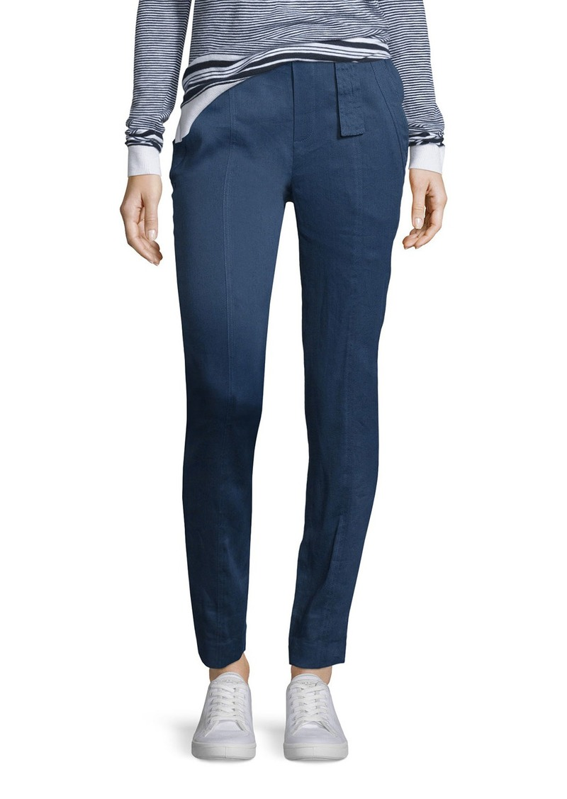 Vince Linen-Blend Belted Trousers
