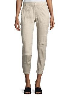 Vince Linen-Blend Cargo Pants