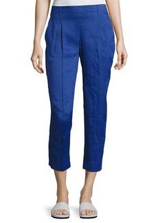 Vince Linen-Blend Pleat-Front Trousers
