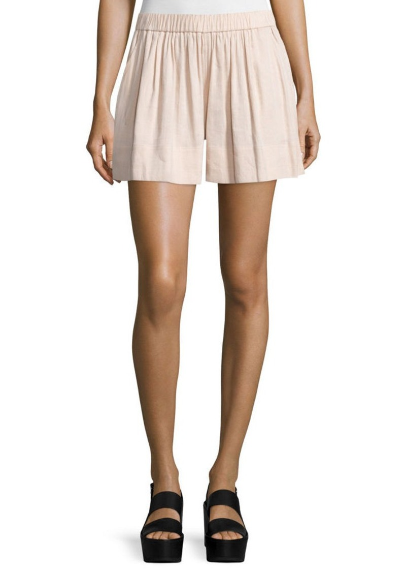 Vince Linen-Blend Pull-On Shorts