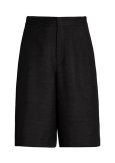 Vince Linen-Blend Wide-Leg Shorts