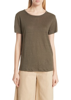 Vince Linen Short Sleeve Top