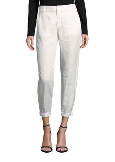 Vince Linen Solid Cropped Pants