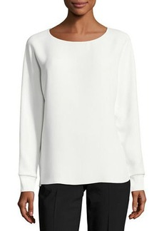 Vince Long Dolman-Sleeve Relaxed Blouse