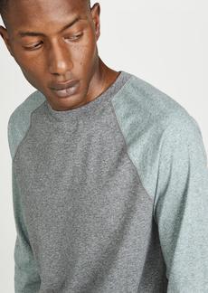 Vince Long Sleeve Contrast Sleeve Baseball Shirt