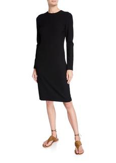 Vince Long-Sleeve Crewneck Pencil Dress
