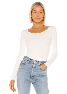 Vince Long Sleeve Deep Scoop Neck