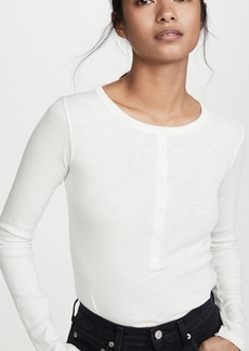 Vince Long Sleeve Henley Shirt