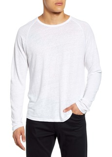 Vince Long Sleeve Linen T-Shirt