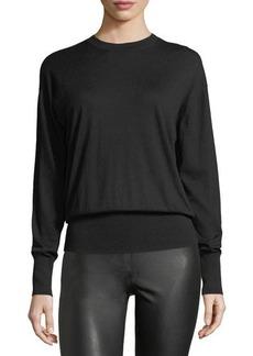 Vince Long-Sleeve Merino Rib-Hem Sweater