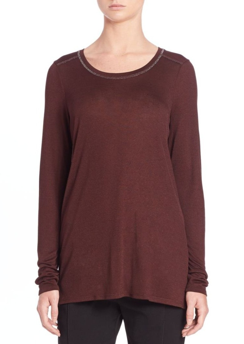 Vince Long Sleeve Mouline Top