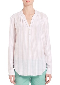 Vince Long sleeve Popover Blouse