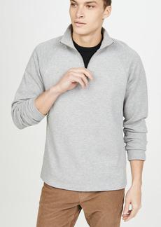 Vince Long Sleeve Quarter Zip Raglan Sweatshirt