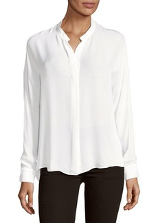 Vince Long-Sleeve Silk Blouse