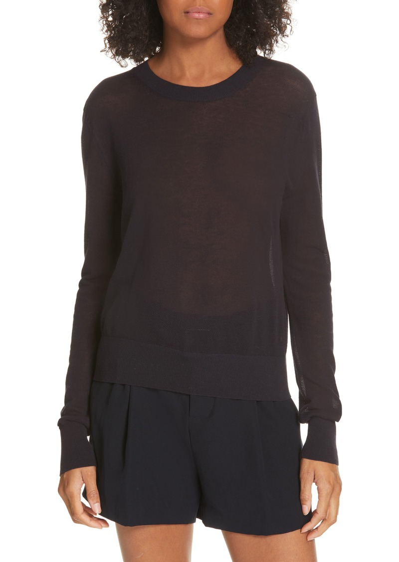 Vince Long Sleeve Texture Knit Top