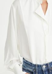 Vince Long Sleeve Tie Neck Blouse