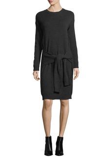 Vince Long-Sleeve Tie-Waist Sweater Dress