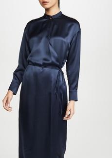 Vince Long Sleeve Wrap Dress